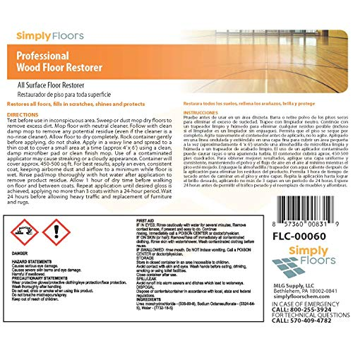 Simply Floors Professional Wood Floor Restorer, 32 oz, 12-pack