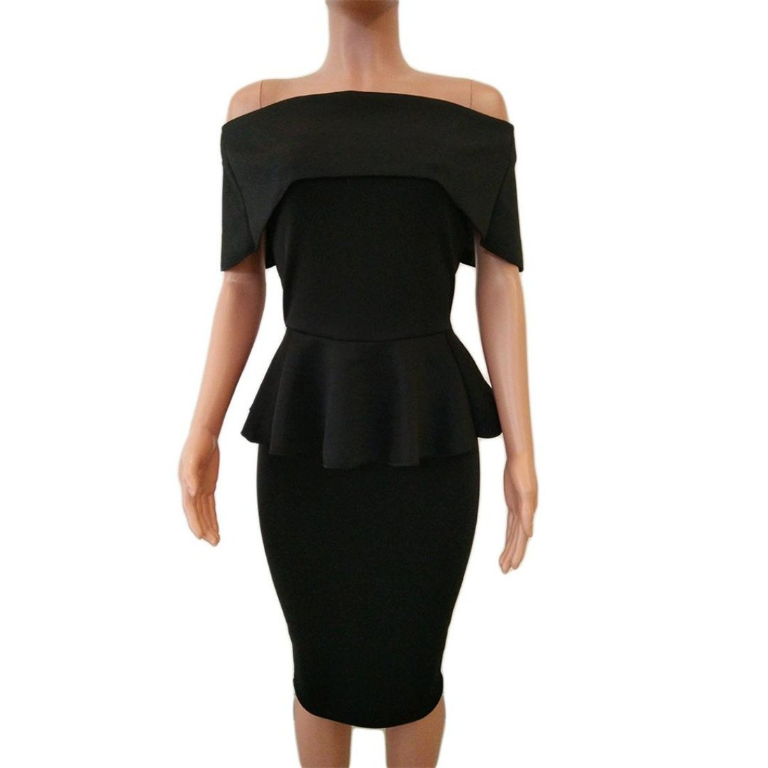 Womens Business Dresses,Moonuy Girl Work Formal Office Bodycon Off Shoulder Long Sleeve Evening Party Dress For Ladies Fashion Spring Autumn Summer Casual ...