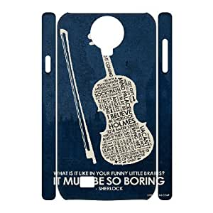 Specialdiy 3D Sherlock Samsung Galaxy S4 case covers Sherlock Inspired Quote Poster for Girls, cell phone case cover 6jRc55sKKL1 for Samsung Galaxy S4,
