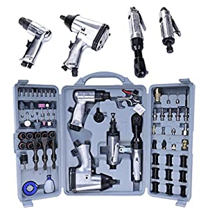 71 Pcs Air Impact Wrench Set,Air Tool Pneumatic Tools,Pneumatic Mould,Air Pneumatic Die with Storage Case