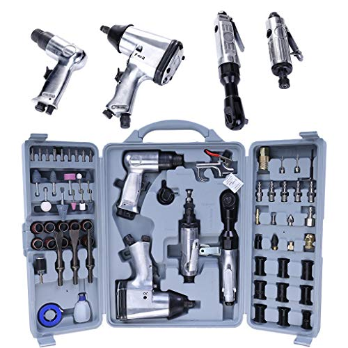 - OhradWord Car Repair Tool,Mouth Tool Bag,71 Piece Air Tool Air Impact Wrench And Accessories Kit With Storage Case,screwdriver bits set,Air Die Grinder