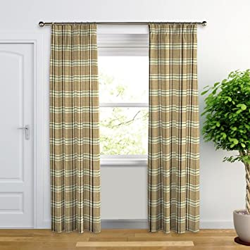 Balmoral, Beige Green - Made to Measure Curtains (Natural and ...