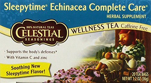 Celestial Seasonings Wellness Tea Sleepytime Echinacea Complete Care, 20-count (Pack of 6)