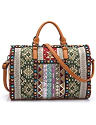Carry on weekender or general purpose ethnic Bag Travel Duffel Tote