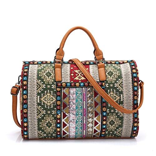 Bag Purpose - Carry on weekender or general purpose ethnic Bag Travel Duffel Tote