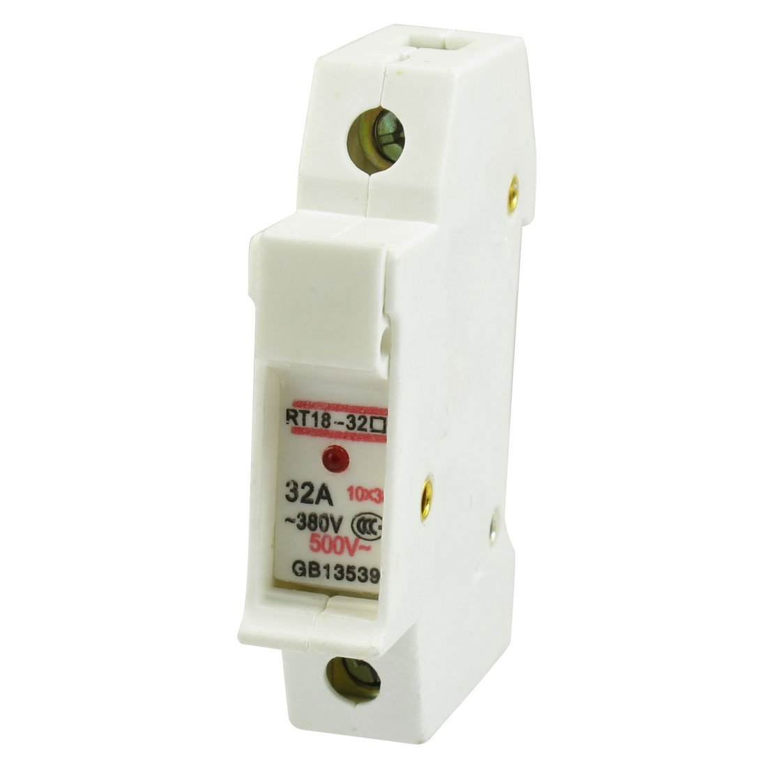 sourcingmap® AC 380V 500V 1 polo 10mm x 38mm cilíndrico Fusible Toma soporte RT18-32 a12122700ux0105