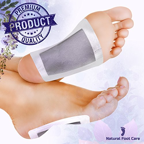Premium Foot Pads by Natural Foot Care – 20 Pack Upgraded 2 in 1 FDA Certificated – High Quality Body Feet Patch for Best Relief and Result – with 100% Organics Ingredients – Remove Impurities While