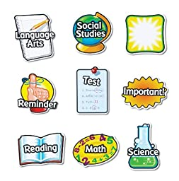 Learning Resources Magnetic Subject Labels - Set of 9