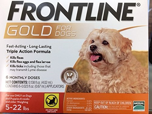 Frontline Gold for Dogs 522 lbs Orange (6 Month) by Frontline