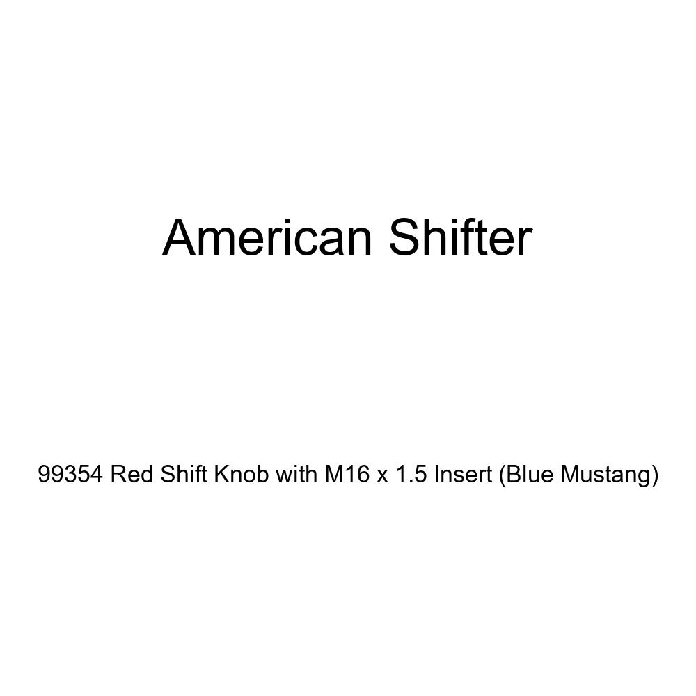 Blue Mustang American Shifter 99354 Red Shift Knob with M16 x 1.5 Insert
