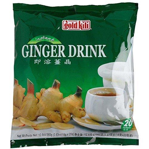 3 X Chinese Instant Honey Ginger drink, Ginger tea Gold Kili (20 Sachets)