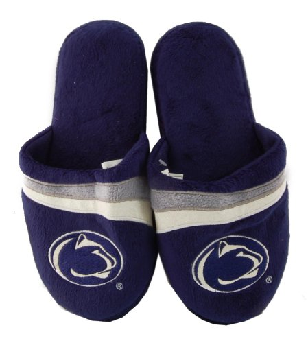 Penn State Quakers Glitter Stripe Slide Slipper Adult Large