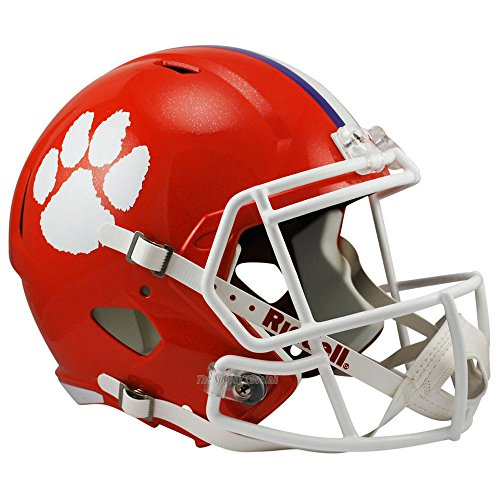 Riddell Clemson Tigers Officially Licensed NCAA Speed Full Size Replica Football Helmet (Tigers Deluxe Replica Helmet)