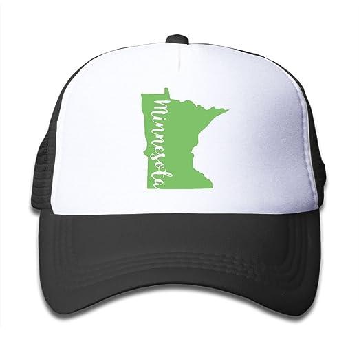 849584f47c1 Amazon.com  Minnesota State Outline On Kids Trucker Hat