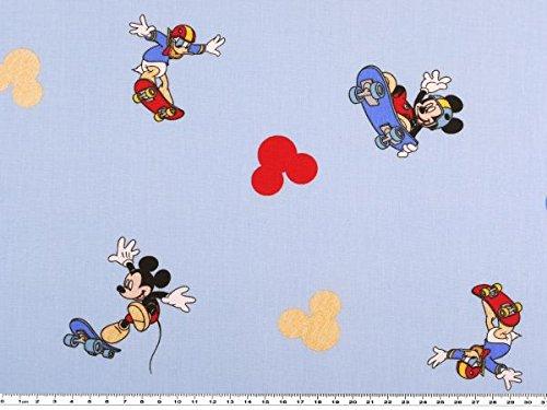 Disney tessuto, Mickey Mouse e Donald Duck, Azzurro, 150cm Stoffe-Zanderino.de