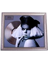 Lady Gaga Infuential Recognition Platinum Record Award non-Riaa AFTAL