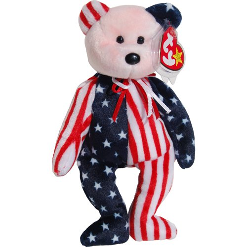 Patriotic Teddy Bears (Pink Face Spangle the Stars & Stripes Patriotic Teddy Bear - Ty Beanie Babies)