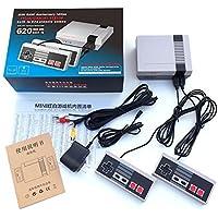 Lanlan:Video giochi,Mini console di gioco Classic Videogioco da 620 TV incorporato con doppio controller,