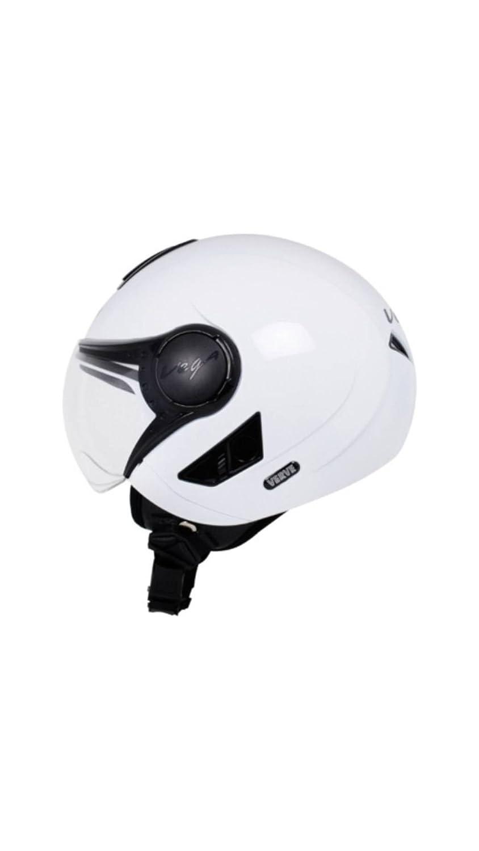 Vega Verve Open Face Motorbike Helmet White Colour - Medium Size (58 CM) - The Best Bike Helmets for Women