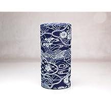 Ryu Mei Aizome Blue Japanese Tea Tin [Type 3]