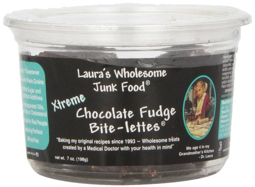 Laura's Wholesome Junk Food Cookie, X-Treme Choc Fudge, 7 Ounce (Pack of 6)