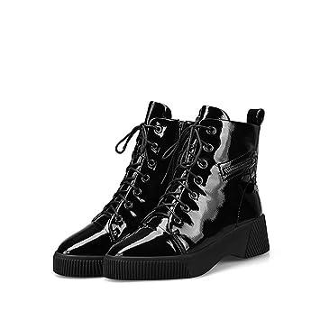 YZ-Shoe Botas de Nieve Zapatos de algodón Mujer Invierno de Terciopelo más (Terciopelo Botines para Mujer Sujetador de Suela Gruesa Botas Martin: Amazon.es: ...