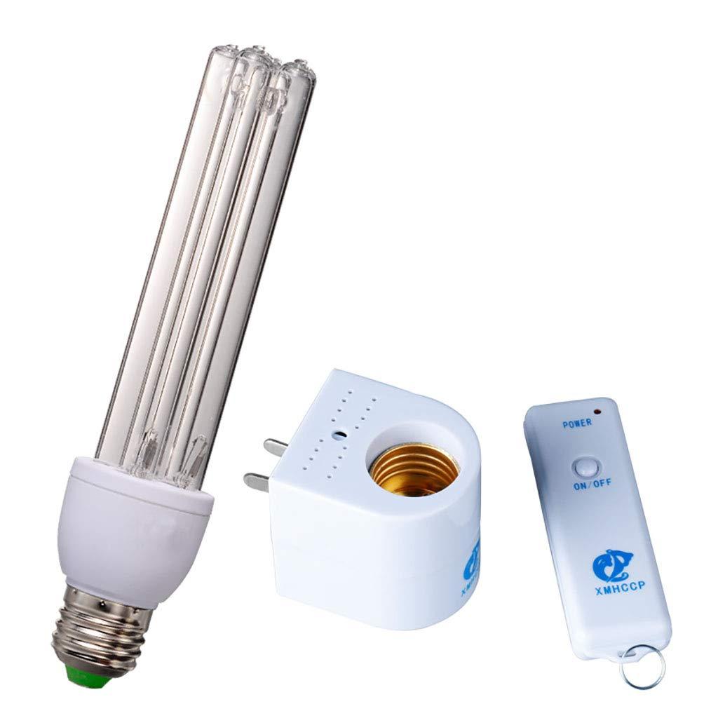 Portable Ozone UV Sterilizer Light Air Sanitizer Purifier Fridge Deodorizer Formaldehyde Remover Mites Killer Odor Removal for Car Pet Area (Color : Remote Control, Size : 15W)