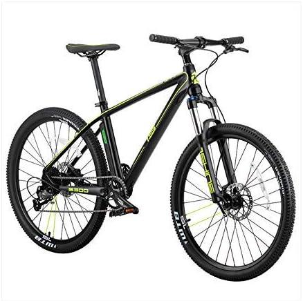Mnjin Bicicleta ecológica Inteligente de Velocidad eléctrica de Onda automática, Bicicleta de montaña Inteligente de Cambio electrónico de Promesa, Verde
