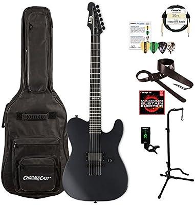 ESP LAA600BLKS-KIT-1 Alan Ashby Signature AA-600 - Guitarra eléctrica, color negro satinado: Amazon.es: Instrumentos musicales