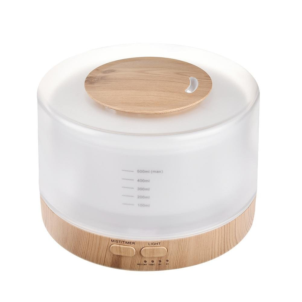 Cathy02Marshall Atmosphere Ultrasonic Humidifier 500 ML WITH REMOTE CONTROL, Seven Colors Available, Color Wood Medium, Suitable for home, office, Baby, Bedroom and Bathroom.