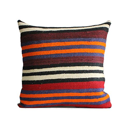 Used, Kilim pillow, 24x24 kilim pillow cover, Turkish Pillow for sale  Delivered anywhere in USA