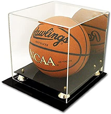 Sports Memoriablia Display Case Collectible Supplies Deluxe UV Protected Acrylic Basketball Display with Mirror