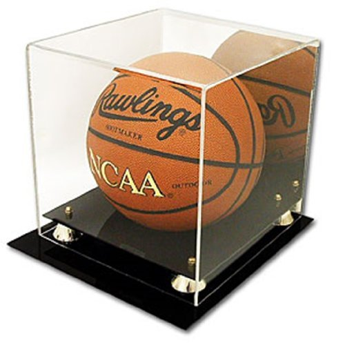 (Deluxe CBG UV Protected Basketball Display Case w/Mirror)