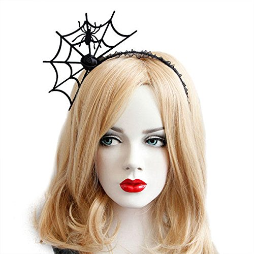 MAGE TWIN - Halloween Party Spider Web Headbands for women Party Halloween Hair