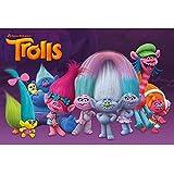 Amazon.com: Trolls caracteres Edible Pastel parte superior ...