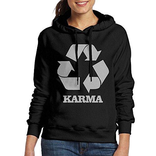 Wxf Womens Karma Recycle Classic Baseball Black Hoodie M