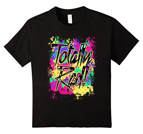 Kids Totally Rad 80s Neon Paint Splash 1980s Party T-Shirt 6 - Totally Shop Kids