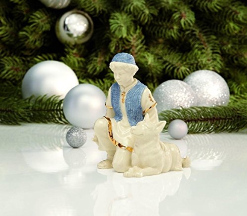 Lenox First Blessing Nativity Shepherd with Dog Nativity Ceramic