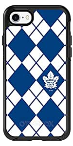 Toronto Maple Leafs - Argyle design on Black OtterBox Symmetry Case for iPhone 8