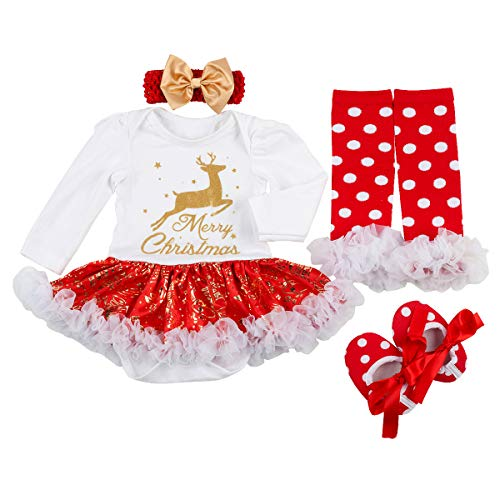 Christmas Winter Outfit - Slowera Baby Girls Christmas Outfits Clothes (XL:12-18Months, White reindeer2)