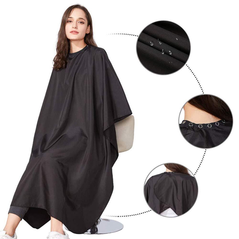 Lanzamiento de chal negro, corte de pelo, vestido, peluquero, belleza, chal, unisex, delantal profesional, peluquería, equipo de peluquería(Negro)