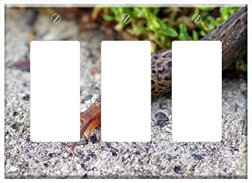 Snail Rocker - Switch Plate Triple Rocker/GFCI - Snail Lusitan The Bare Naked It Slimy Horns