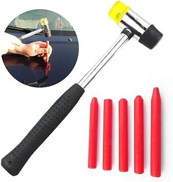 Niome 5pcs Car Tap Down Tool Nylon Pen for Paintless Hail Removal Dent Repair Professional Tools