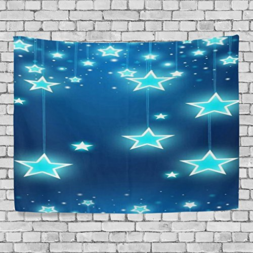 TJDY Stars And Sparkles Wallpaper Canvas Modern Art DIY Style Crosswise Wall Carpet Tapestry 60x51(in)