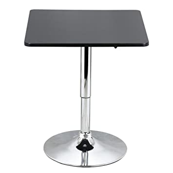 Amazoncom Modern Square Bar Table Adjustable Bistro Pub Bar - Square pedestal pub table