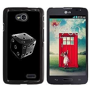 LECELL -- Funda protectora / Cubierta / Piel For LG Optimus L70 / LS620 / D325 / MS323 -- Black & White Chrome Dice --