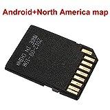 xinzhi Tarjeta SD de 16G GPS Map, Tarjeta de Memoria de navegación Tarjeta de Viaje TF con Software de navegación Sistema Android - # 3, Mapa de América del Norte
