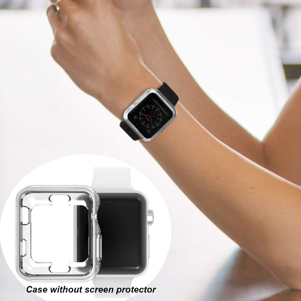 for Apple Watch Series 4 2018 Edition 44mm Clear Soft Bumper Case Protector Cover