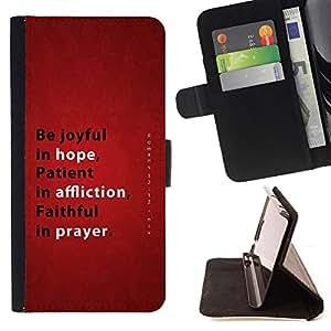 KingStore / Leather Etui en cuir / Sony Xperia Z3 Compact / BIBLIA Esperanza Affliction Oración