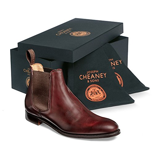 cuir Chelsea Bottines Cheaney veau de bordeaux en ZFCwtHCOqx